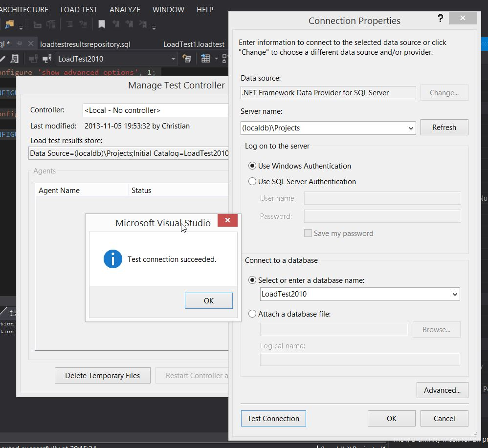VS2013 Manage Test Controller