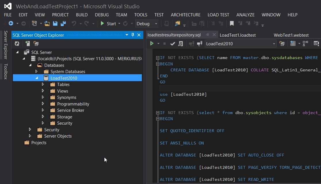 VS2013 SQL Object Explorer