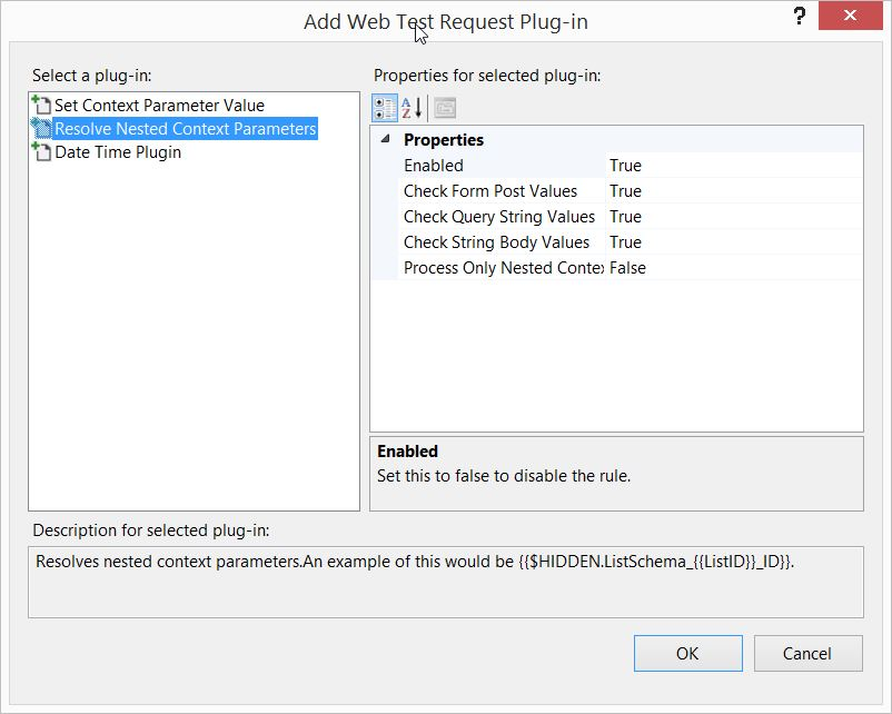 VS2013 Web Test Request Plug-in